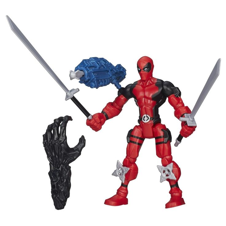 The Deadpool Superhero Mashers Toy is available in customized outlook with multi weapon option. Order your piece now.
