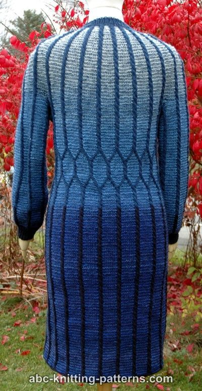 ABC Knitting Patterns - Classical Elegance Round Yoke Cable Dress