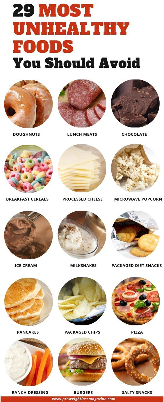 29 Most Unhealthy Foods You Should Avoid #food