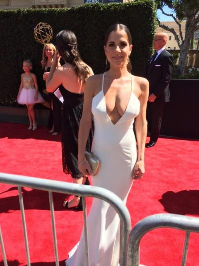Kelly Monaco at the 2017 Daytime Emmy's.