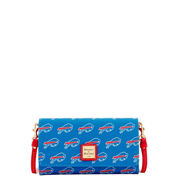 Circle the Wagons! Rep your team with an officially licensed Buffalo Bills bag or accessory. The Daphne Crossbody wallet is a stylish way to carry all of your daily necessities. Wear it as a crossbody during the day, and remove the detachable strap to use as a clutch for a night out.