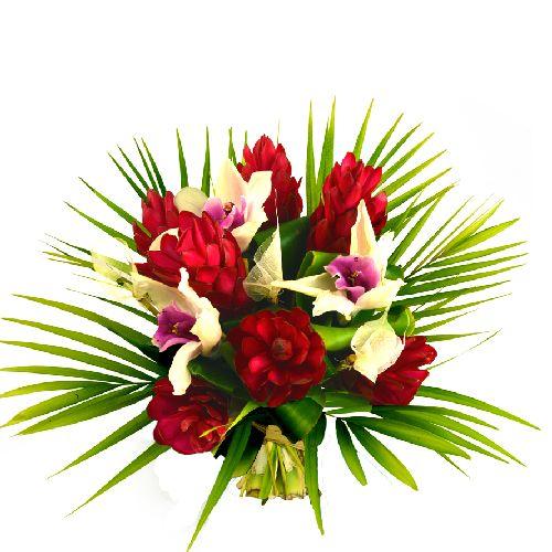f te des m res bouquet de fleurs exotiques ti c ur bouquets pinterest. Black Bedroom Furniture Sets. Home Design Ideas