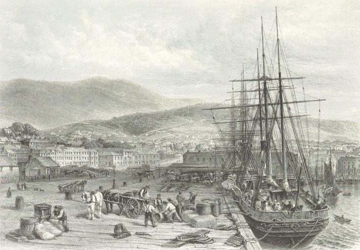 The Quay, Hobart Town, Tasmania 1873