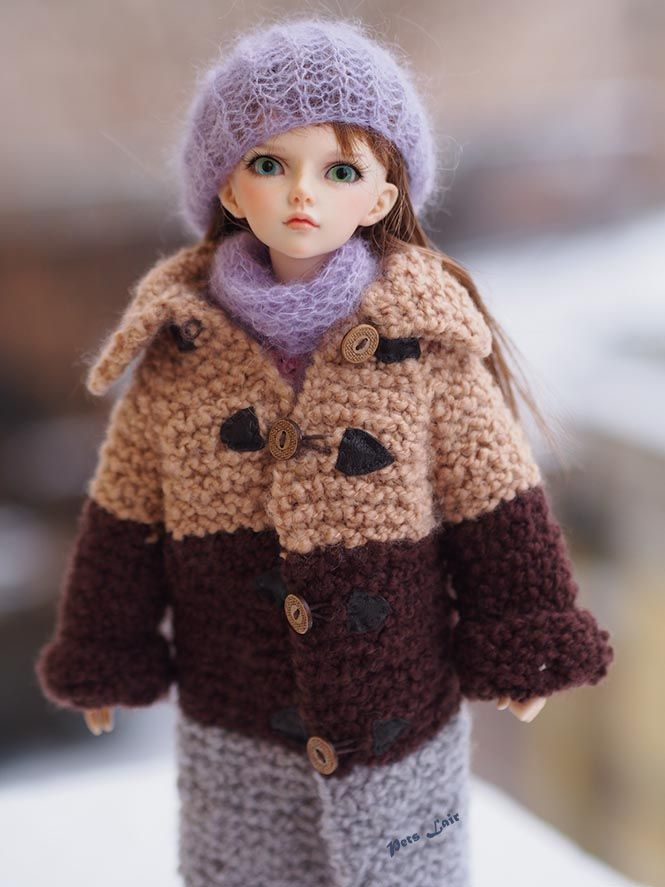 This is a #outfit for #Minifee, #Narae, #Unoa, #JID, #MSD,#BJD, ... and same #dolls 1/4 doll or for other dolls the size to the 40-47 cm / 15-19 inches. #astrakhan #coat #beige tones