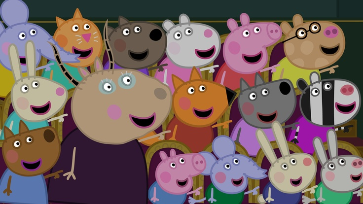 Peppa Pig and friends at the Christmas Show!  Peppa Pig (Vol. 17) - The Christmas Show is available on DVD now!