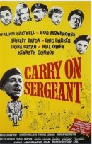 Carry On Sergeant 1958 British comedy film. Stars William Hartnell, Bob Monkhouse, Shirley Eaton, Eric Barker, Dora Bryan, Bill Owen, Charles Hawtrey, Kenneth Connor, Kenneth Williams and others.