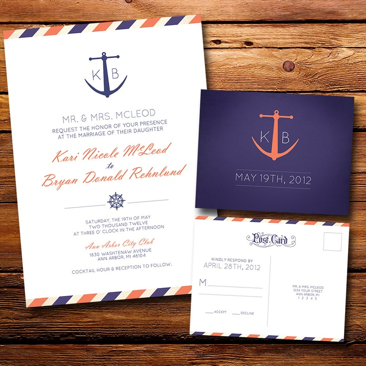 Anchor Beach Wedding Invitation 245 best Invitation