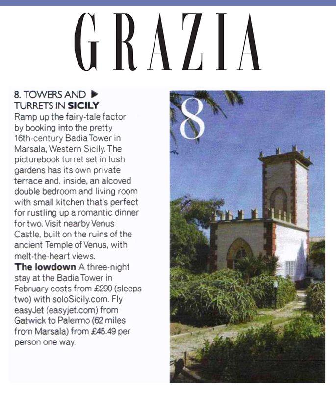 Badia Tower in Marsala featured in Grazia Magazine #Grazia #Marsala #Estate #Sicily