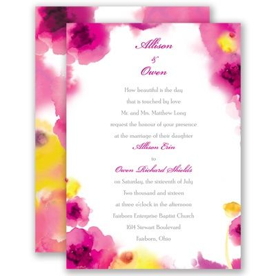 The 25 best bright purple wedding invitation sets ideas on this gorgeous floral invitation will set the mood perfectly for your summer wedding your guests stopboris Choice Image