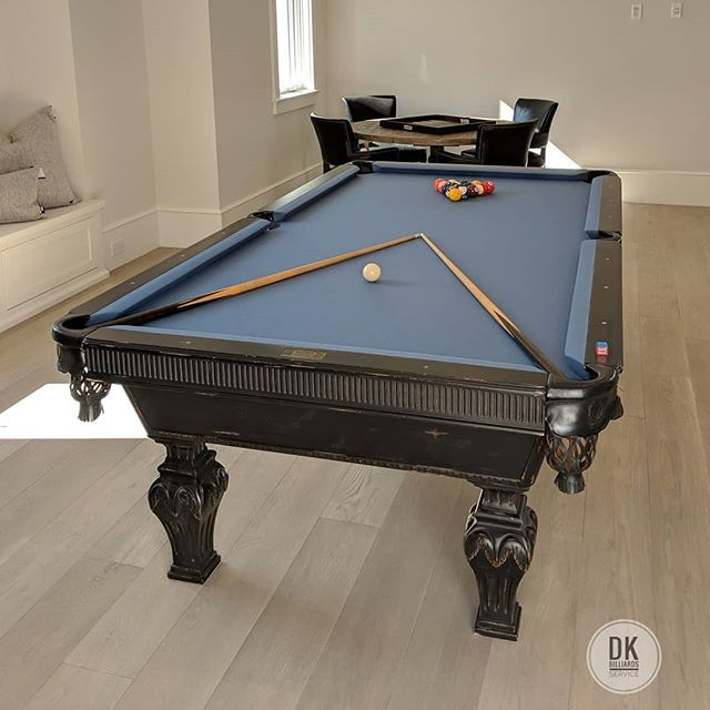 Finished Installing This Pro 8 Foot Beach Mfg Pool Table In