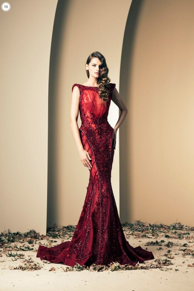 Red-Amazing Evening Gowns 2014 by Ziad Nakad