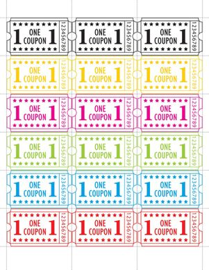 Print out these tickets for a backyard carnival, birthday party or any other occasion. Once they accumulate enough tickets, let kids redeem them for prizes!