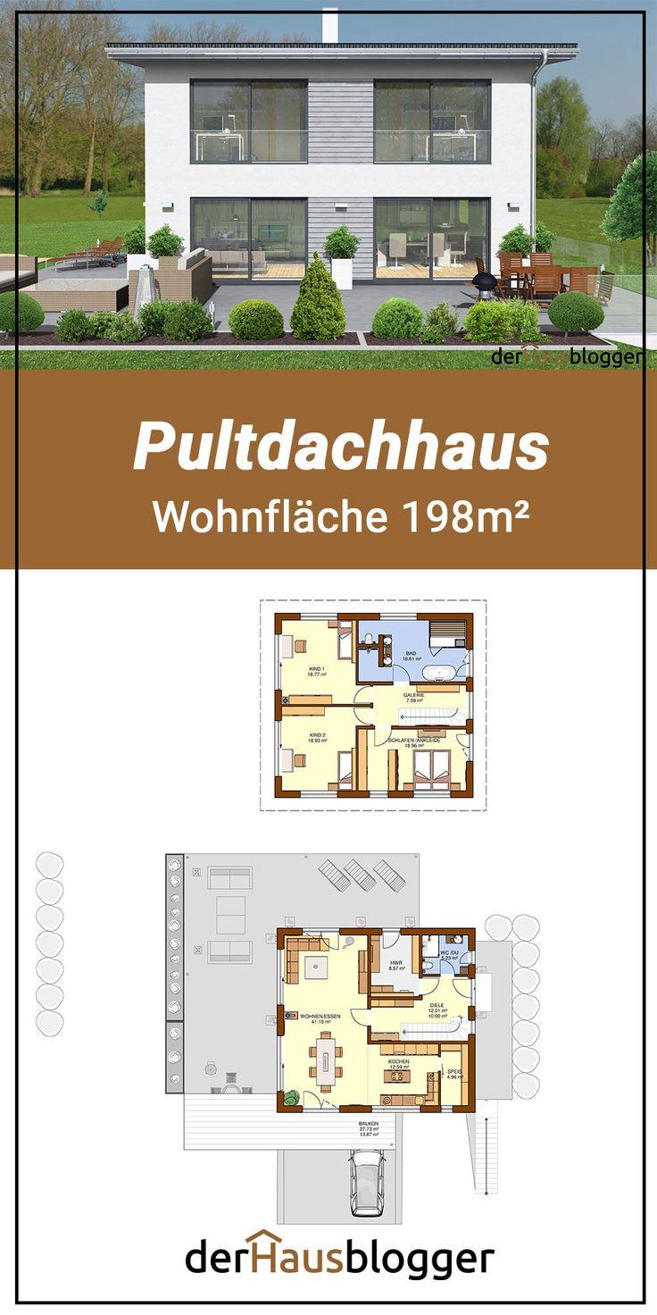 Pultdachhaus 198m² (mit Bildern) Stadtvilla, Haus, Haus
