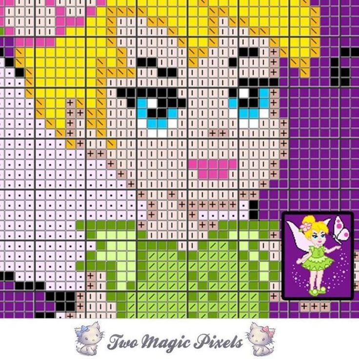 Tinkerbell C2C Crochet Graph   Craftsy