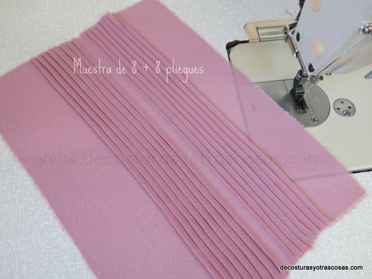 coser lorzas pequeñas