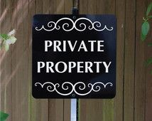 Decorative Private Property Signs 13 Best Signs Images On Pinterest  No Trespassing Signs Private