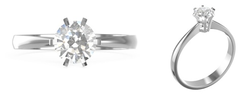 Klassischer Verlobungsring Flora von Yorxs in 18K Weißgold, mit einem 1 Karat schweren, weißen Diamanten im Brillantschliff.   #Yorxs #Diamant #Ring