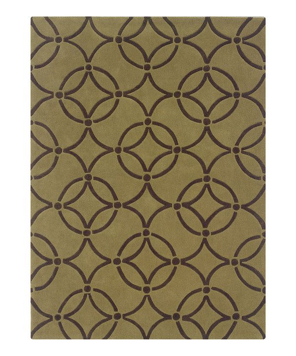 Take a look at this Wasabi & Chocolate Ring Trio Rug on zulily today!
