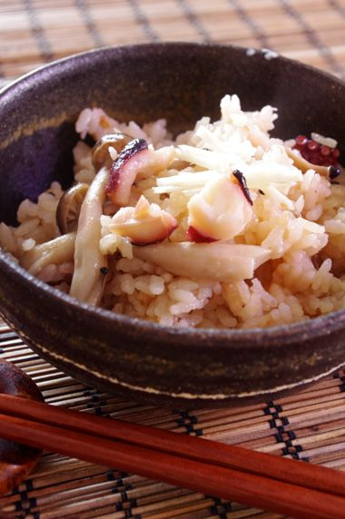 タコときのこの炊き込みご飯☆ | 美肌レシピ