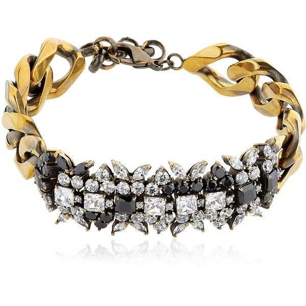 Iosselliani Women Optical Memento Crystal Bracelet ($310) ❤ liked on Polyvore featuring jewelry, bracelets, gold, crystal jewelry, iosselliani, crystal jewellery, iosselliani jewelry and nickel free jewelry