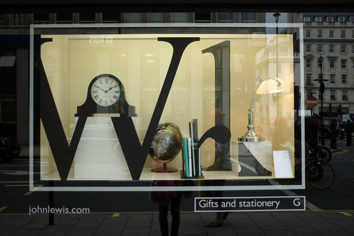 John Lewis spell it out windows!! featuring a Newgate Mantel Clock