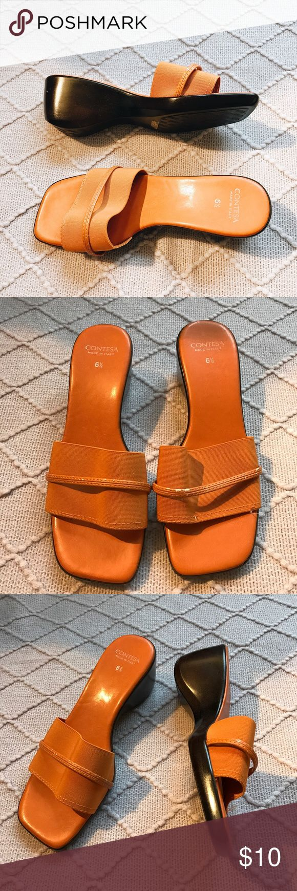 ✨vintage orange sandals✨ Great condition with some peeling as shown but could be fixed. Made in Italy. Beautiful especially for the summer ✨ Vintage Shoes Sandals