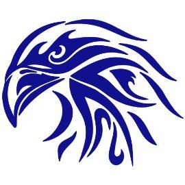 Tribal Eagle Decal Sticker. Available in 19 colors! $