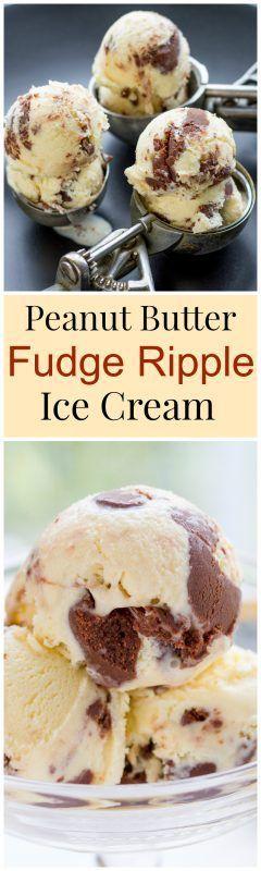 Peanut Butter Fudge Ripple Ice Cream