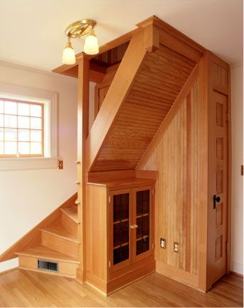 47 best attic images on pinterest attic rooms stairs and attic ideas - Small space staircase image ...