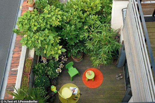 Terrasse végétalisée sur le toit