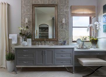 Philharmonic House of Design: Master Bathroom Retreat, His, Hers and Coffee Bar - transitional - Bathroom - Orange County - Cindy Smetana Interiors
