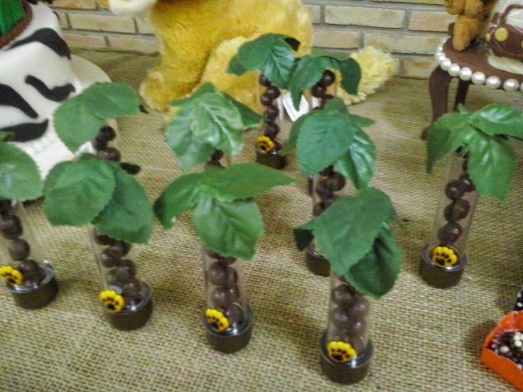 Festa Safari tubetes coqueiros Mille Choses