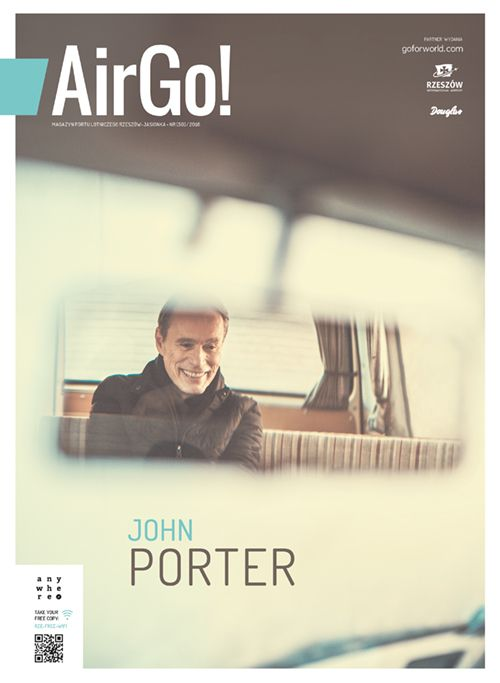 Okładka magazynu Air Go 1/2016 John Porter fot. Tomasz Sagan