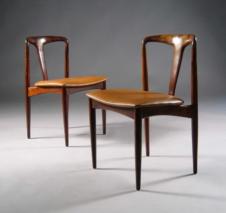 Johannes Andersen Teak And Leather juliane Chairs For