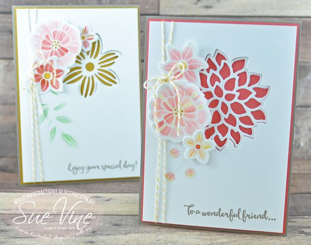 Miss Pinks Craft Spot: Falling Flowers | Crazy Crafters Blog Hop | Special Guest Janneke de Jong