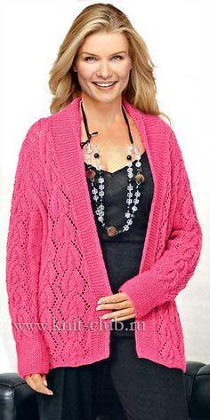 кофта спицами для полных женщин схема вязания вязание вязание