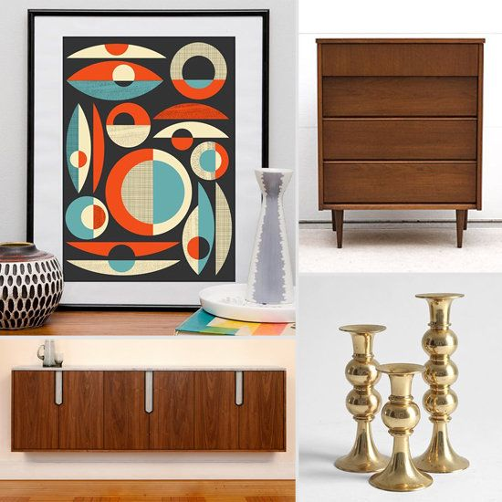 etsy finds mid century decor for every budget - Mid Century Decor