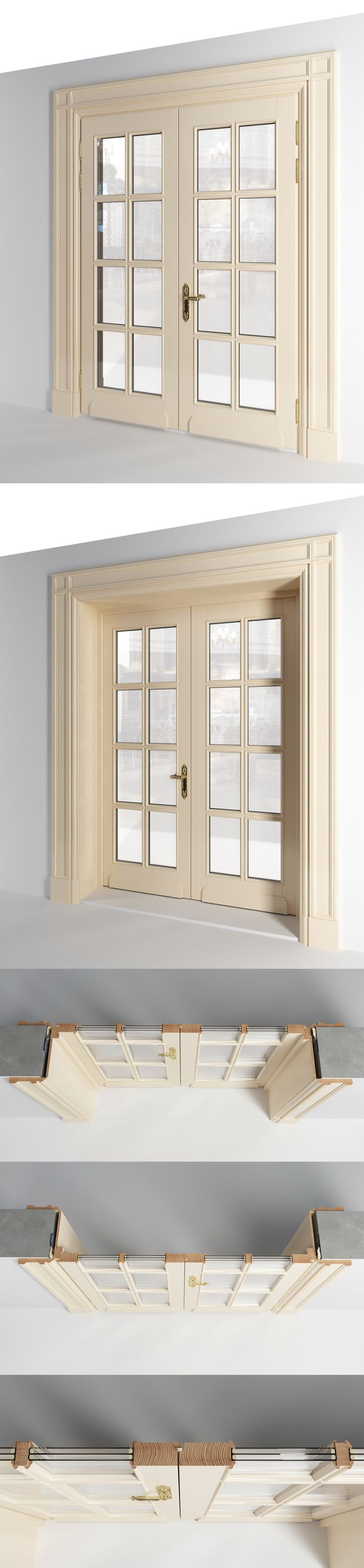 Product modeling & visualization. Neoclassical door / Rendering / Software: 3ds max, PS
