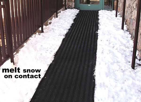 Snow Melting Heat Mats Ice Systems Heated Floor For Stairs Driveways Outdoors Heattrak Llc Outdoor House Decor Pinterest