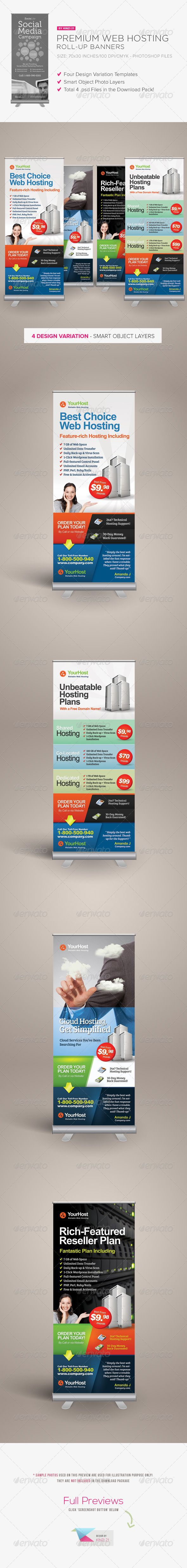 Premium Web Hosting Roll-up Banners #GraphicRiver Premium Web Hosting Roll-up Ba...