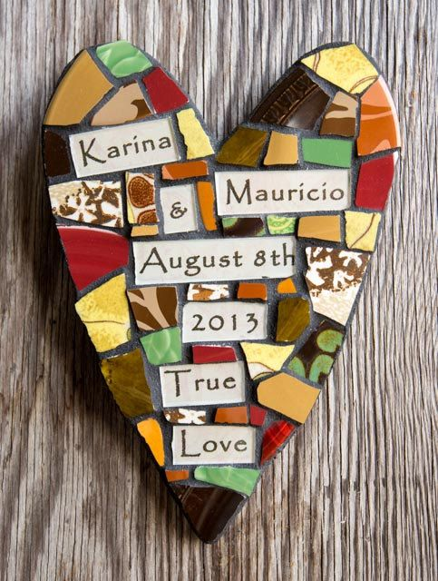 Personalized Whimsical Mosaic Heart