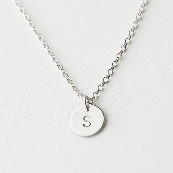 Sterling silver initial necklace  personalised by MinettaJewellery, £20.00