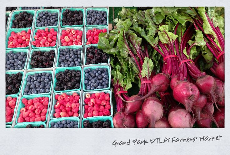 Grand Park Farmers Market in DTLA is held every Tuesday.