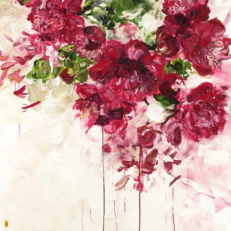 Estilo flores grandes indefinidas
