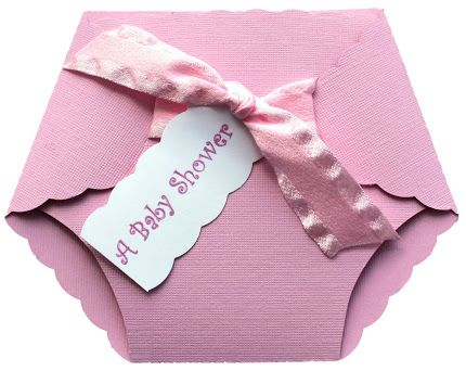 DIY Diaper Baby Shower Invites - see following pin for template. Do straight sides, not slanted on the verticle folds if adding a card