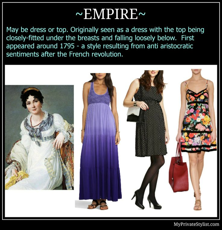 Dresses and Tops: Empire