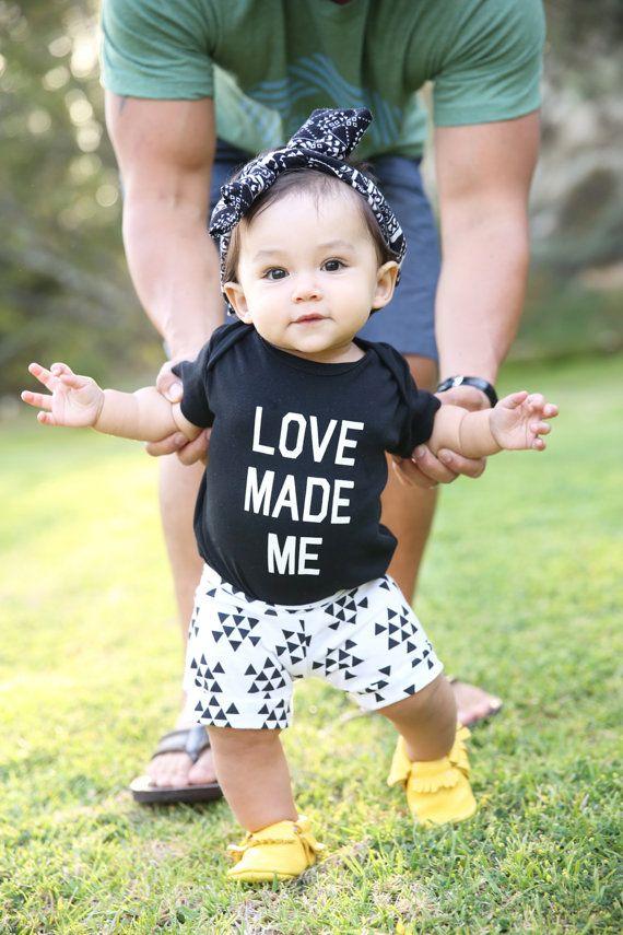 Black Triangle Arrows Knit Baby Shorts Girl Boy by SweetLucyJack