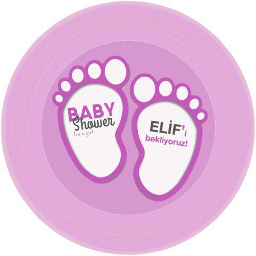 Pembe Bebek Patileri Tabak Sticker