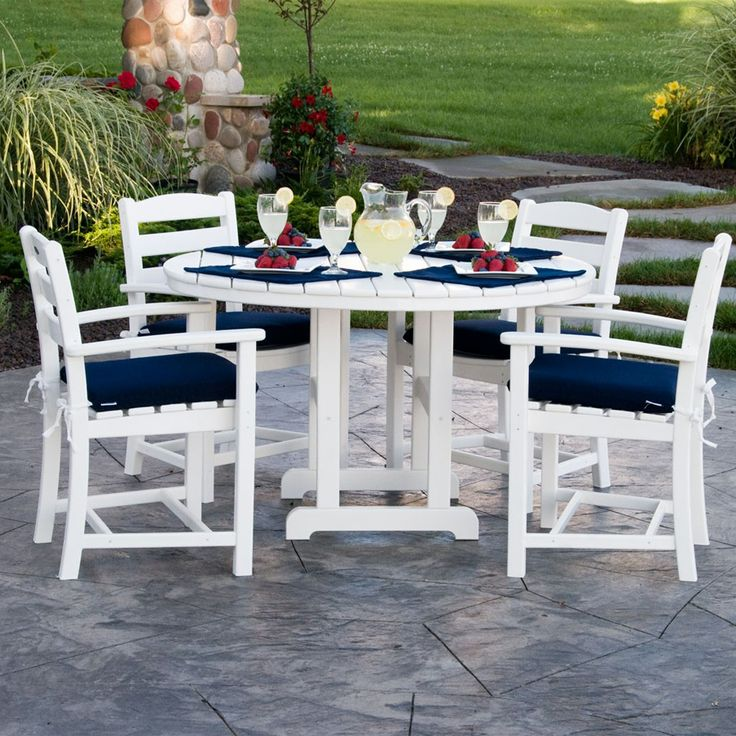 Polywood La Casa Cafe 4 Seat Round Dining Set · Furniture SetsGarden ... Nice Ideas