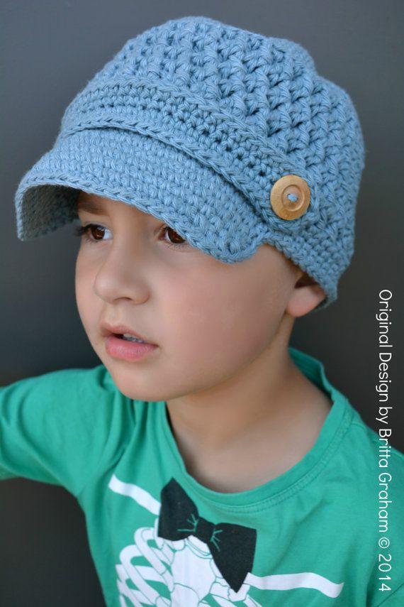 Knitted Newsboy Hat Pattern Free 8x10